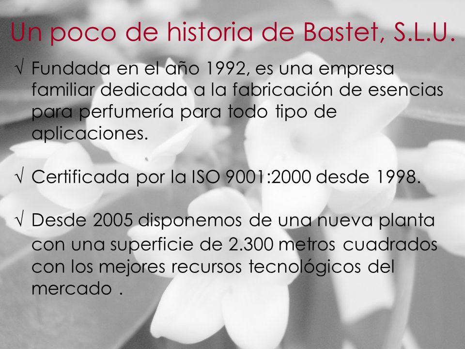 Fundada en el año 1992, es una empresa familiar dedicada a la fabricación de esencias para perfumería para todo tipo de aplicaciones.