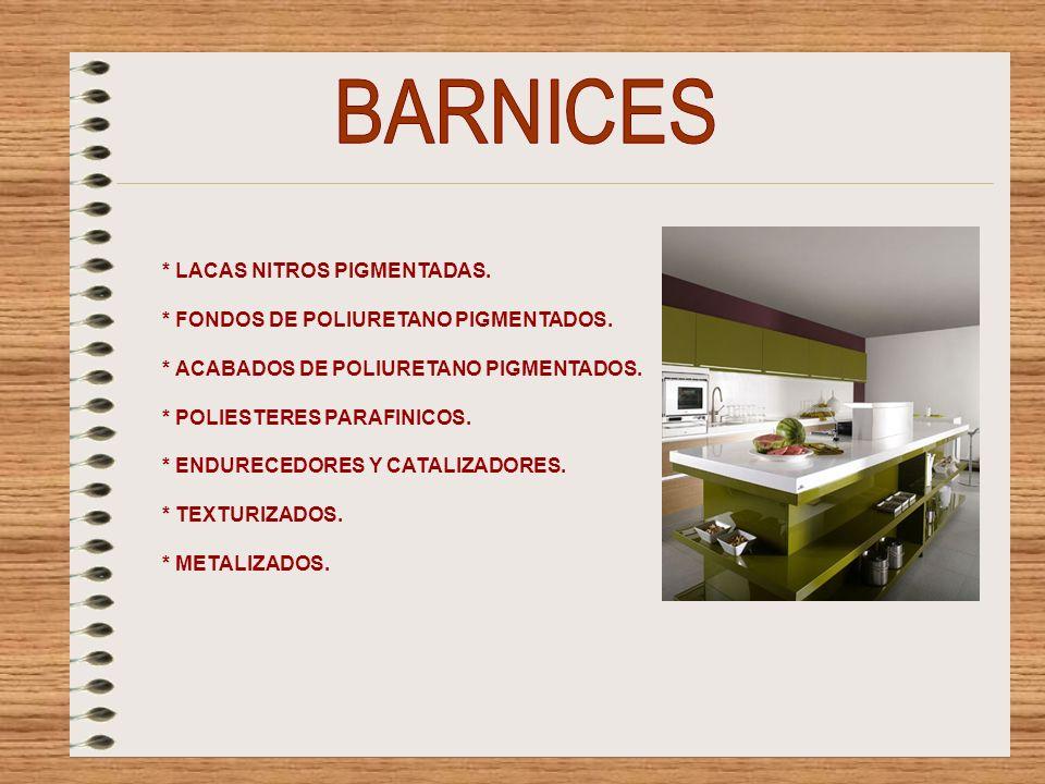 * BARNICES DE EXTERIORES.* FONDOS PROTECTORES DE MADERA.