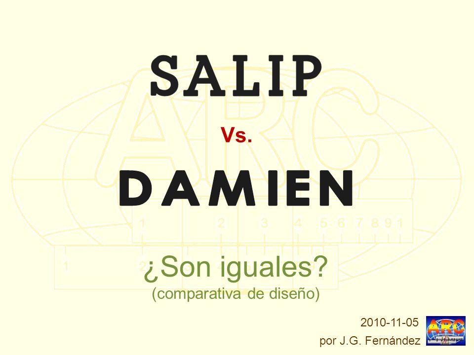 ¿Son iguales? (comparativa de diseño) Vs. por J.G. Fernández 2010-11-05