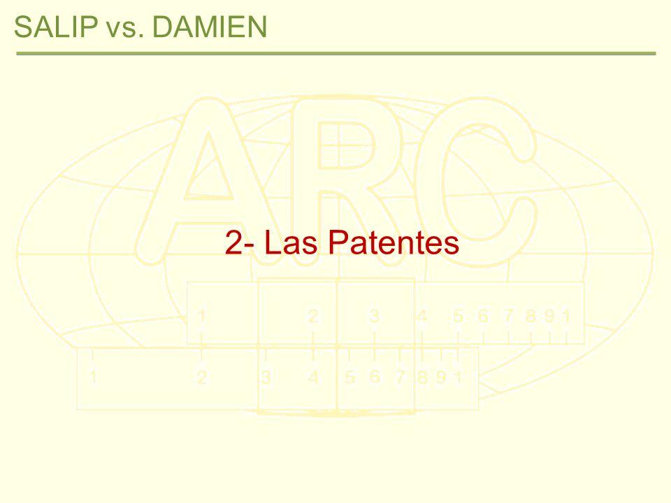SALIP vs.DAMIEN: Las Patentes Preámbulo ¿Qué es una Patente.