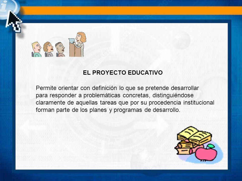 DIMENSIONES DEL PROYECTO EDUCATIVO - Es un documento guía que parte de la gestión, entendida esta última como la organización para la realización de la acción educativa que se tiene encomedada.