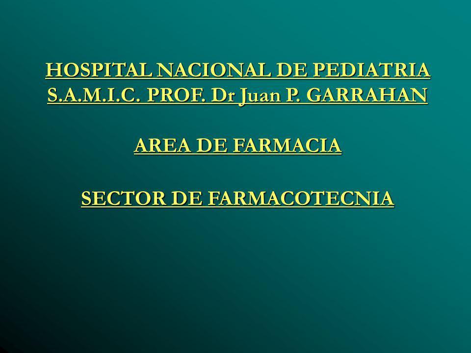HOSPITAL NACIONAL DE PEDIATRIA S.A.M.I.C. PROF. Dr Juan P.