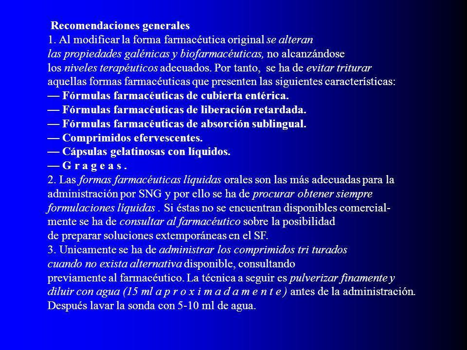 Recomendaciones generales 1.