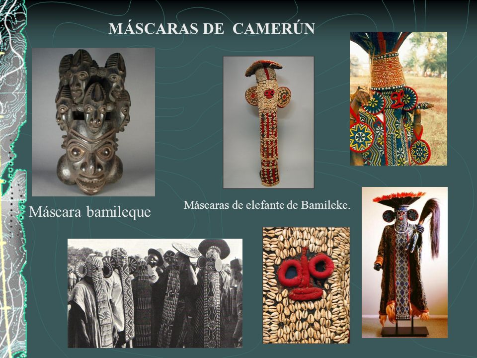 MÁSCARA DE NÍGER Máscara del pueblo Andoni.MÁSCARA DEL ZAIRE Máscara del pueblo Bindji.