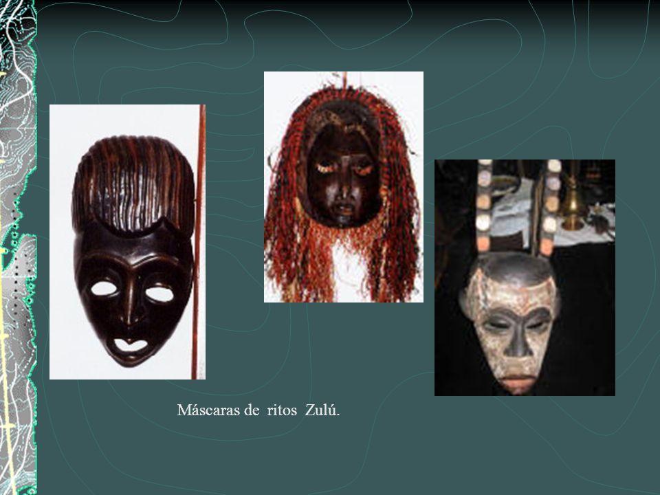 MÁSCARAS DE ANGOLA Máscara de la etnia Pende Máscara funeraria, madera, (Oeste de Sudan).