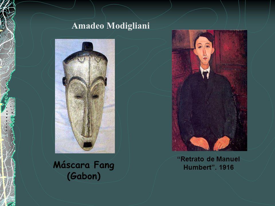 LA INFLUENCIA DEL ARTE AFRICANO Amadeo Modigliani Fang Mask. (Gabon) Cabeza. 1910-1913