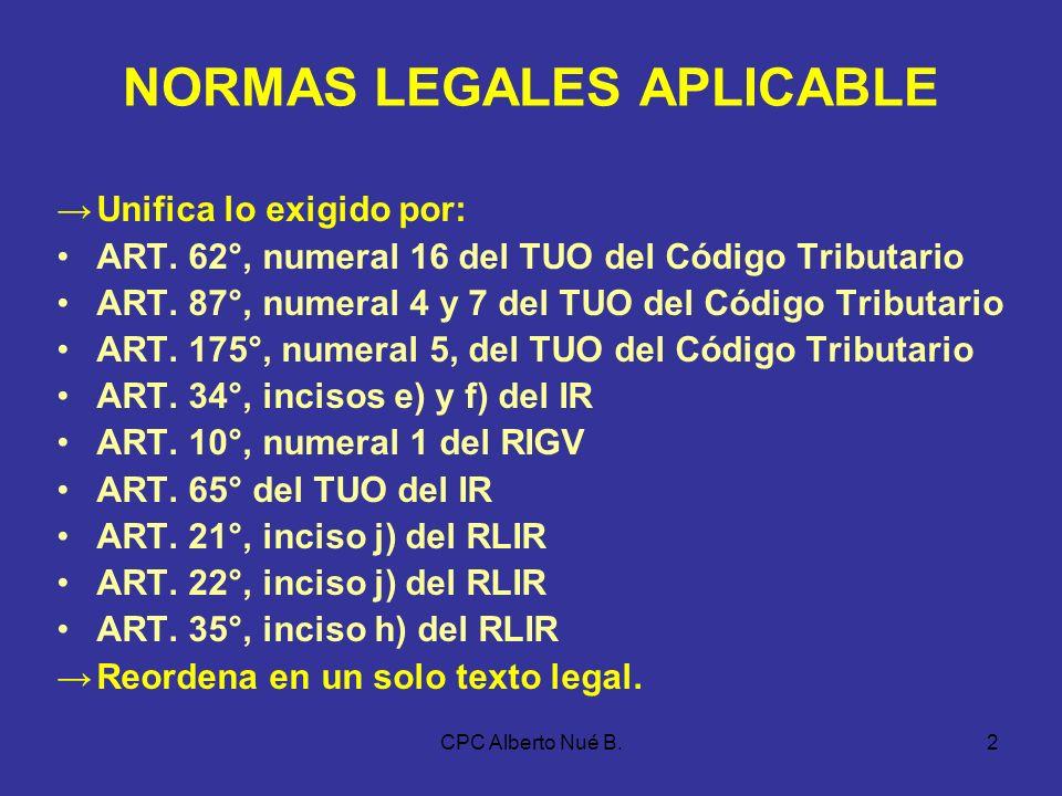 CPC Alberto Nué B.1 LIBROS Y REGISTROS CONTABLES NORMATIVIDAD VIGENTE RESOLUCIÓN DE SUPERINTENDENCIA N° 234-2006/SUNAT PUBLICADA EL 30/12/2006