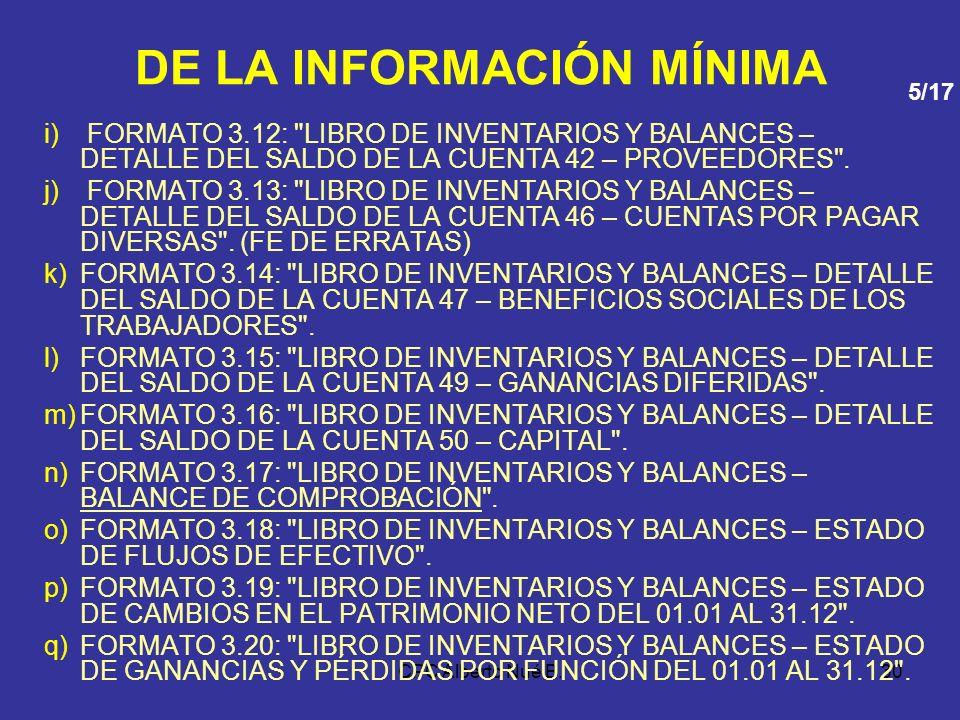 CPC Alberto Nué B.29 DE LA INFORMACIÓN MÍNIMA d)FORMATO 3.4: