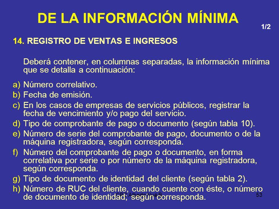 CPC Alberto Nué B.52 FORMATO 13.1: REGISTRO DE INVENTARIO PERMANENTE VALORIZADO – DETALLE DEL INVENTARIO DOC. DE TRASLADO, COMP. PAGO O DOC. INTERNO O