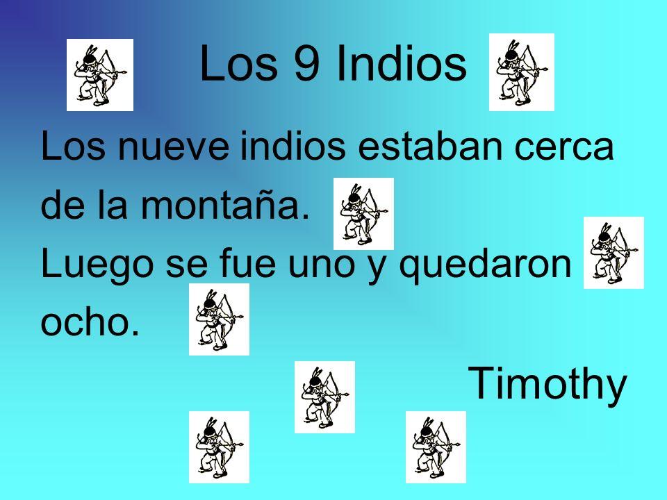 Los 9 Indios Los nueve indios estaban cerca de la montaña. Luego se fue uno y quedaron ocho. Timothy