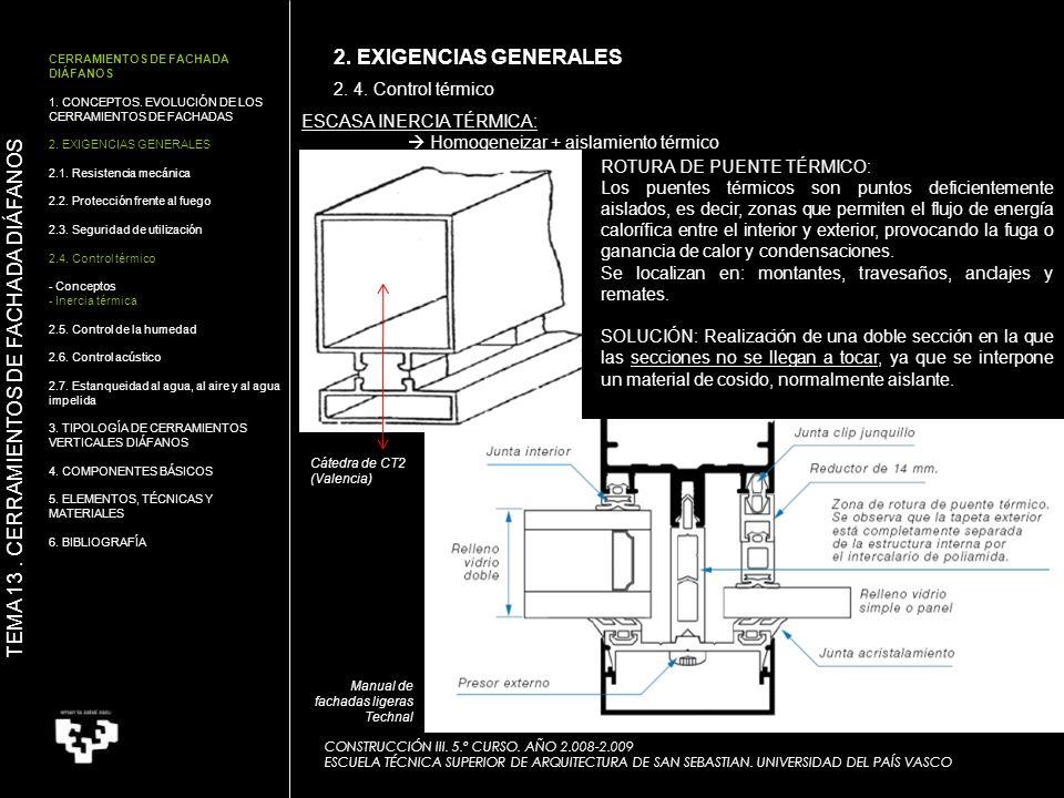 CONSTRUCCIÓN III. 5.º CURSO. AÑO 2.008-2.009 ESCUELA TÉCNICA SUPERIOR DE ARQUITECTURA DE SAN SEBASTIAN. UNIVERSIDAD DEL PAÍS VASCO CERRAMIENTOS DE FAC