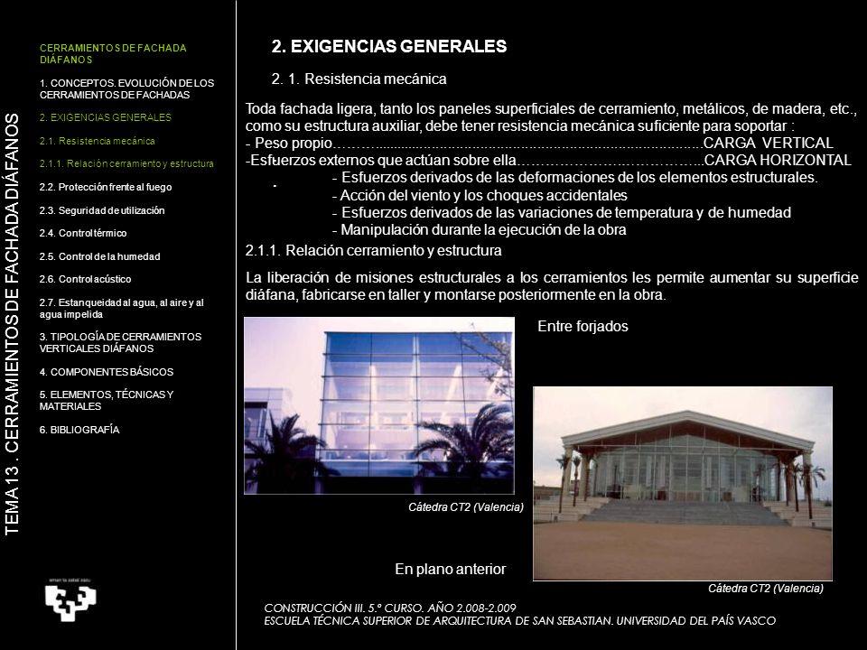 .... 2. 1. Resistencia mecánica CONSTRUCCIÓN III. 5.º CURSO. AÑO 2.008-2.009 ESCUELA TÉCNICA SUPERIOR DE ARQUITECTURA DE SAN SEBASTIAN. UNIVERSIDAD DE