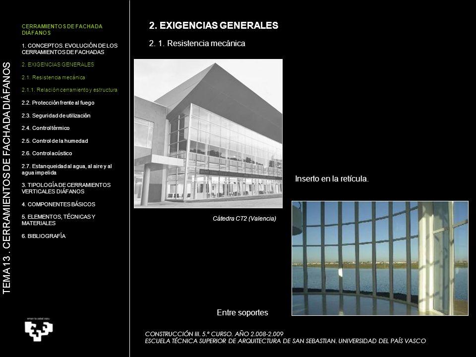 2.1. Resistencia mecánica CONSTRUCCIÓN III. 5.º CURSO.
