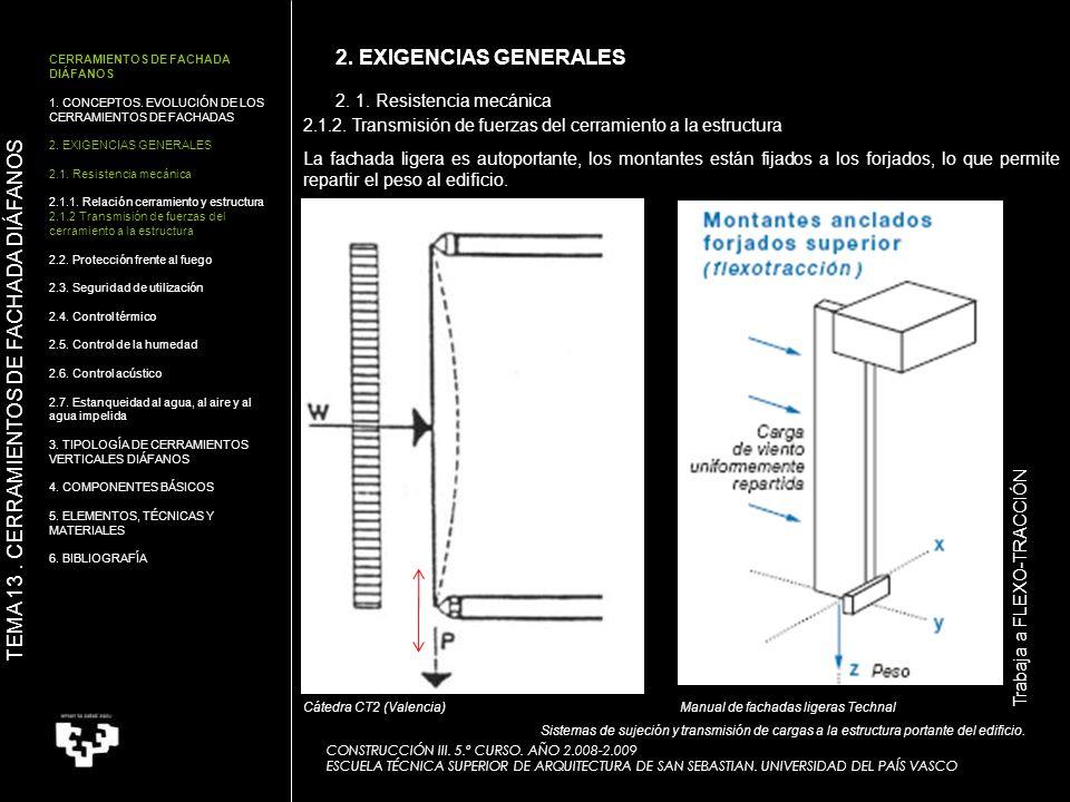 2. 1. Resistencia mecánica CONSTRUCCIÓN III. 5.º CURSO. AÑO 2.008-2.009 ESCUELA TÉCNICA SUPERIOR DE ARQUITECTURA DE SAN SEBASTIAN. UNIVERSIDAD DEL PAÍ