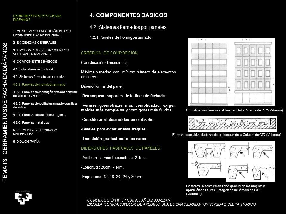 Coordinación dimensional. Imagen de la Cátedra de CT2 (Valencia) CONSTRUCCIÓN III. 5.º CURSO. AÑO 2.008-2.009 ESCUELA TÉCNICA SUPERIOR DE ARQUITECTURA
