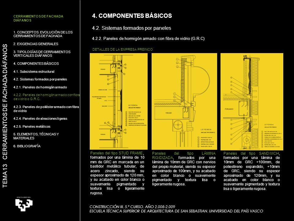 CONSTRUCCIÓN III. 5.º CURSO. AÑO 2.008-2.009 ESCUELA TÉCNICA SUPERIOR DE ARQUITECTURA DE SAN SEBASTIAN. UNIVERSIDAD DEL PAÍS VASCO TEMA 13 CERRAMIENTO