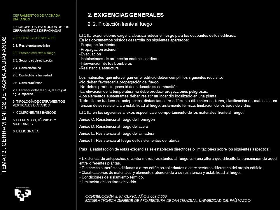 CERRAMIENTOS DE FACHADA DIÁFANOS 1.CONCEPTOS. EVOLUCIÓN DE LOS CERRAMIENTOS DE FACHADA 2.