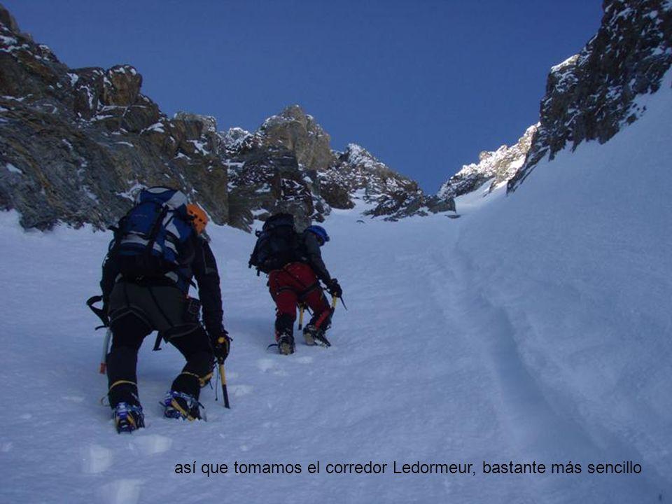 así que tomamos el corredor Ledormeur, bastante más sencillo