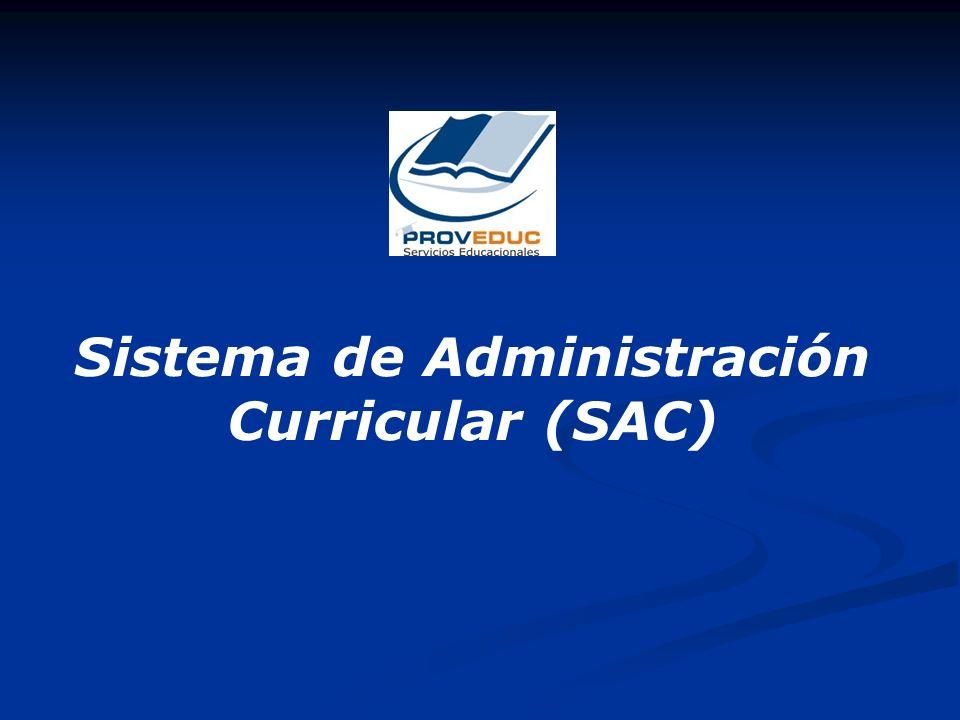 Sistema de Administración Curricular (SAC)