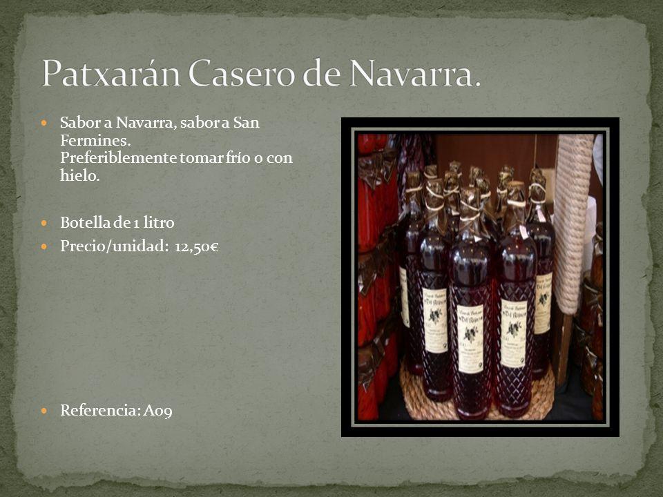 Sabor a Navarra, sabor a San Fermines. Preferiblemente tomar frío o con hielo.