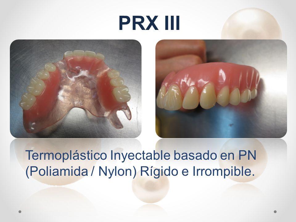 Termoplástico Inyectable basado en PN (Poliamida / Nylon) Rígido e Irrompible. PRX III