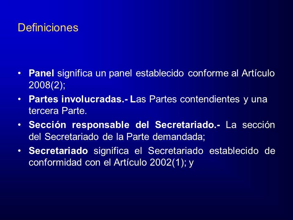 Acta de Misión Las Partes convendrán el Acta de Misión y la entregarán a la sección responsable del Secretariado, quien la hará llegar a la tercera Parte y al Panel.