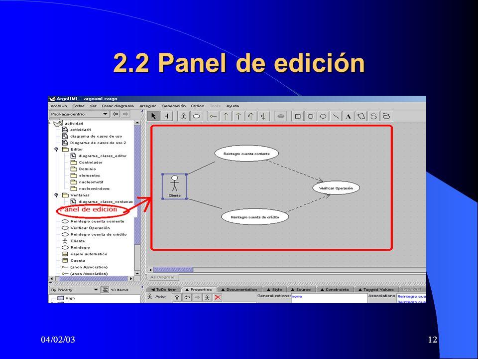 04/02/0312 2.2 Panel de edición