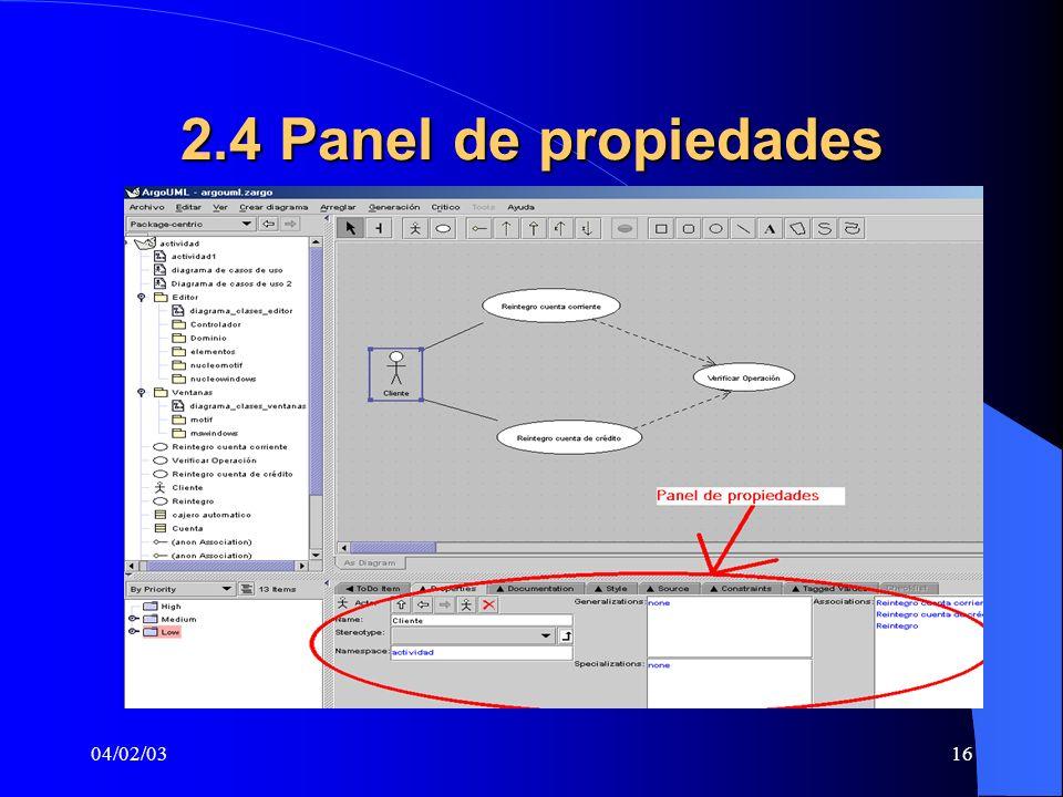04/02/0316 2.4 Panel de propiedades