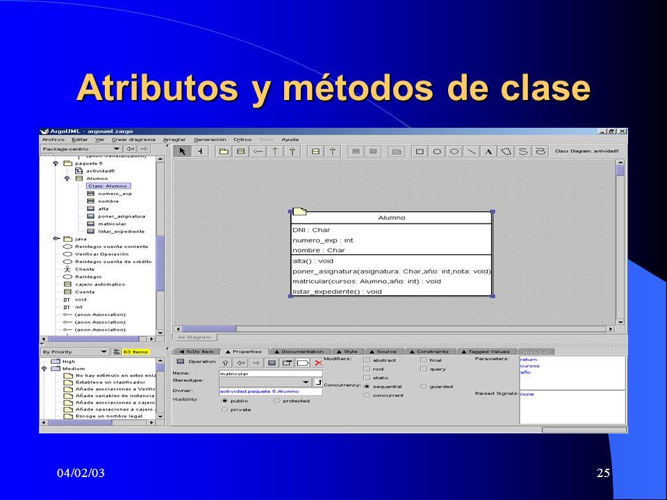 04/02/0325 Atributos y métodos de clase