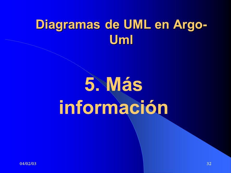 04/02/0332 Diagramas de UML en Argo- Uml 5. Más información