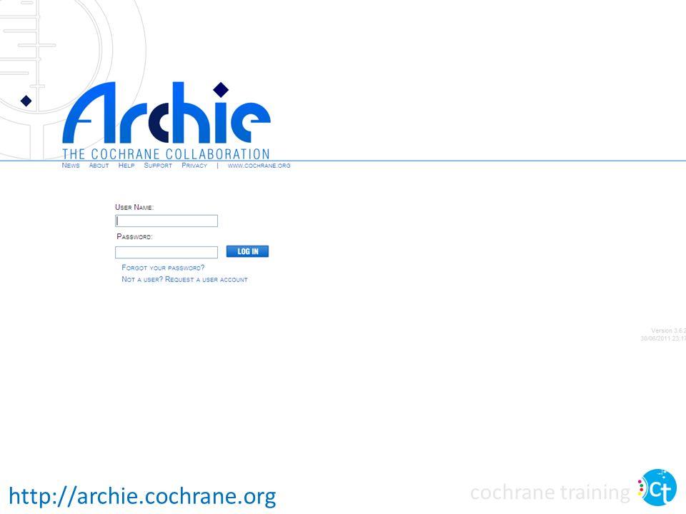 cochrane training http://archie.cochrane.org