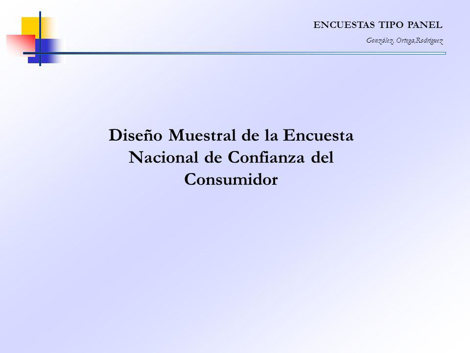 Diseño Muestral de la Encuesta Nacional de Confianza del Consumidor ENCUESTAS TIPO PANEL González, Ortega,Rodríguez