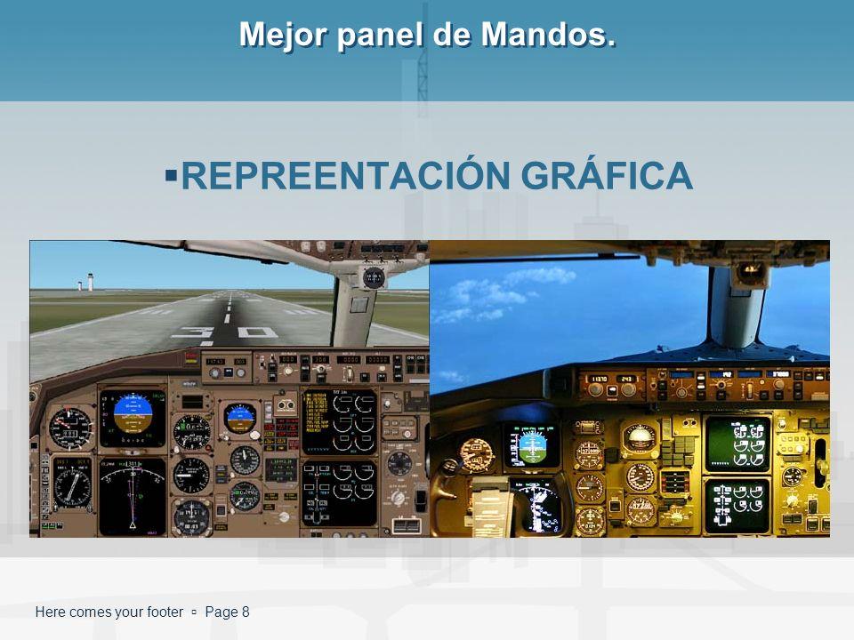 Here comes your footer Page 8 Mejor panel de Mandos. REPREENTACIÓN GRÁFICA