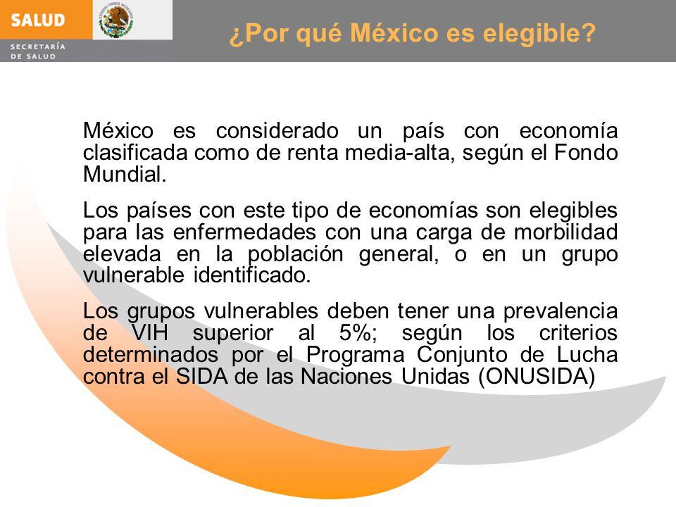 ¿Por qué México es elegible? México es considerado un país con economía clasificada como de renta media-alta, según el Fondo Mundial. Los países con e