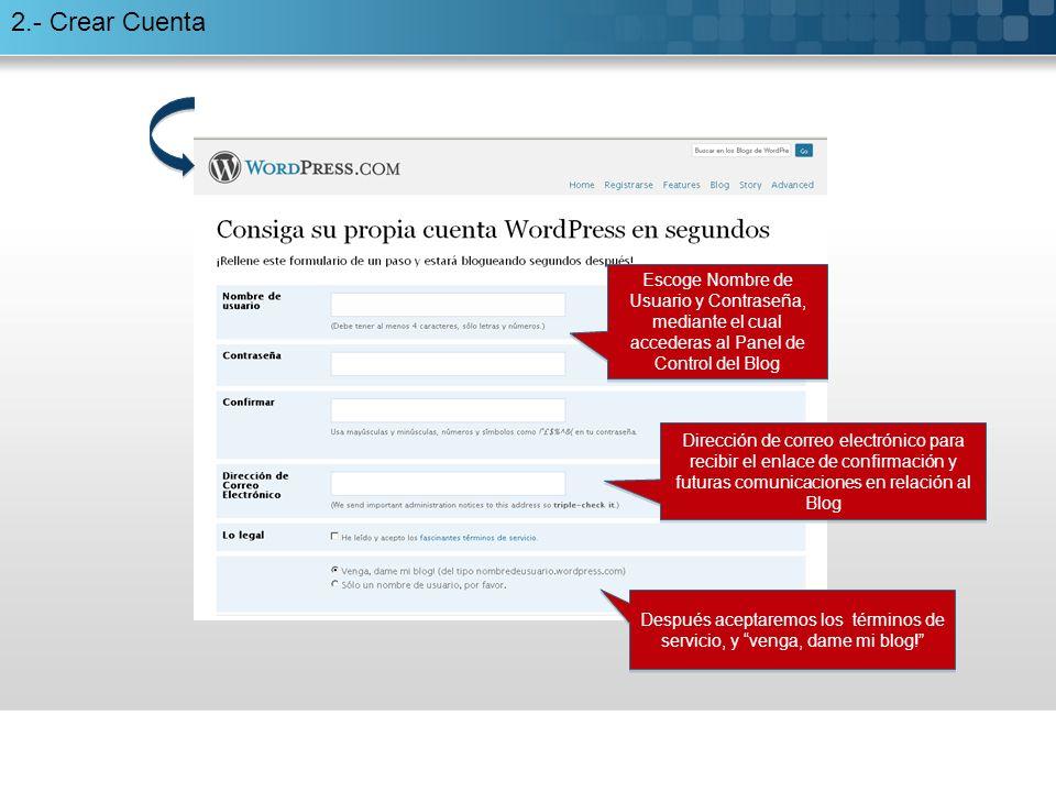 5.5.- Completar la entrada Categorías: Ayudan a organizar el blog de forma interna.