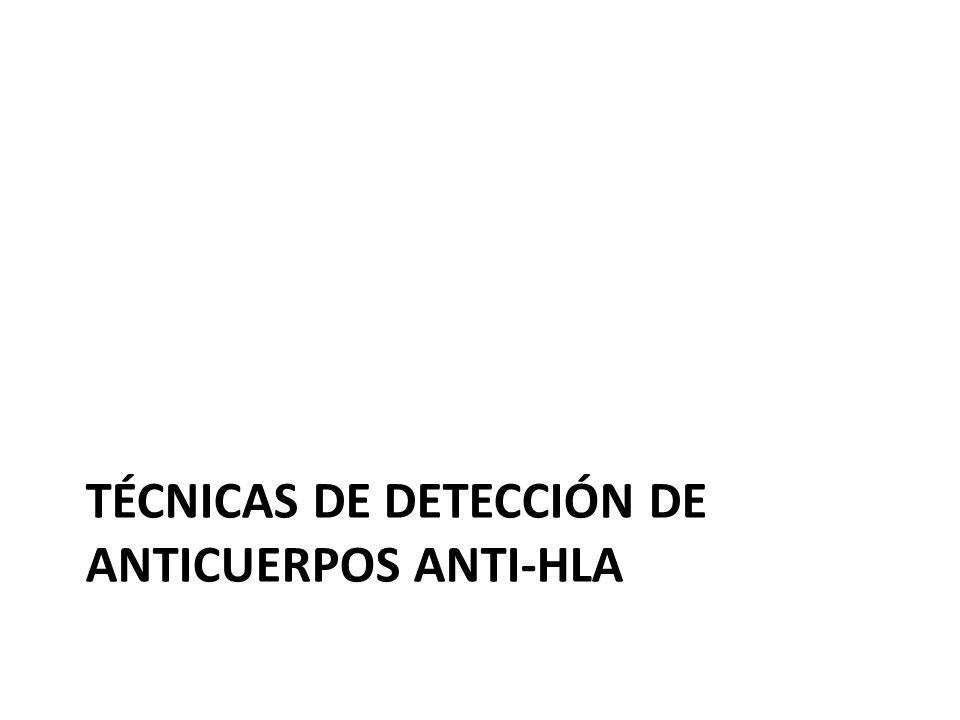 TÉCNICAS DE DETECCIÓN DE ANTICUERPOS ANTI-HLA