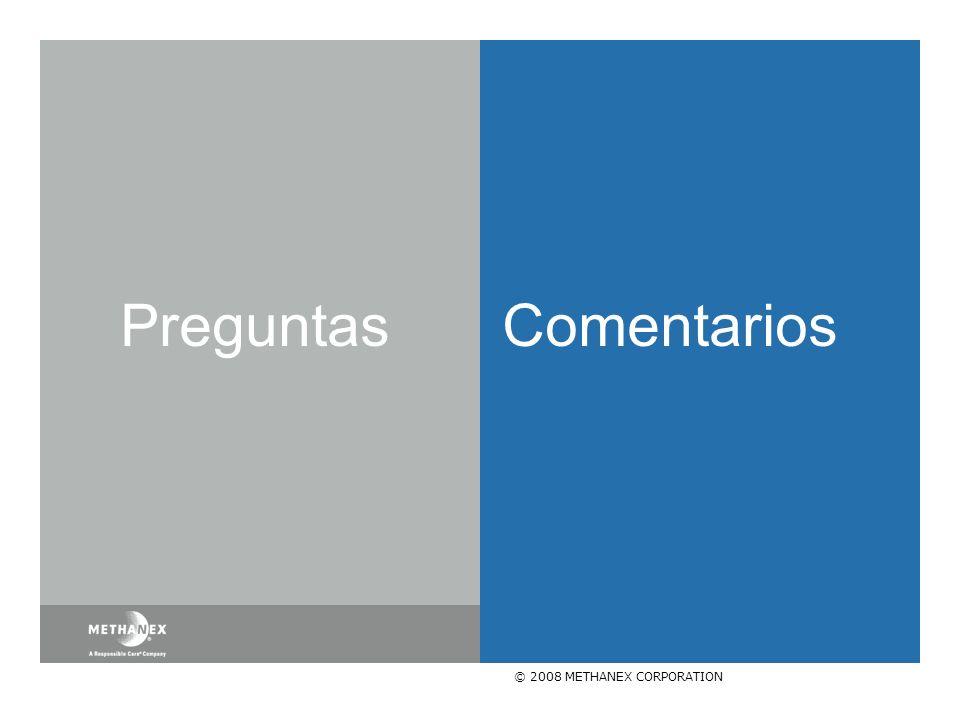 © 2008 METHANEX CORPORATION Preguntas Comentarios