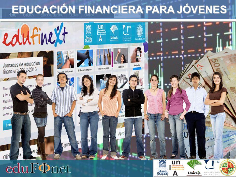 Jornadas Educación financiera para jóvenes acercar el mundo financiero a los jóvenes, proporcionándoles una visión clara y sencilla de los distintos productos y servicios financieros de los que ya son usuarios o lo serán a lo largo de los próximos años.