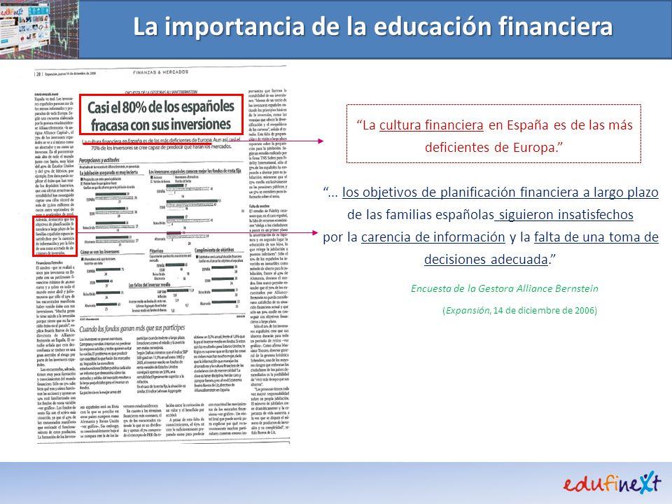 La importancia de la educación financiera La cultura financiera en España es de las más deficientes de Europa.... los objetivos de planificación finan