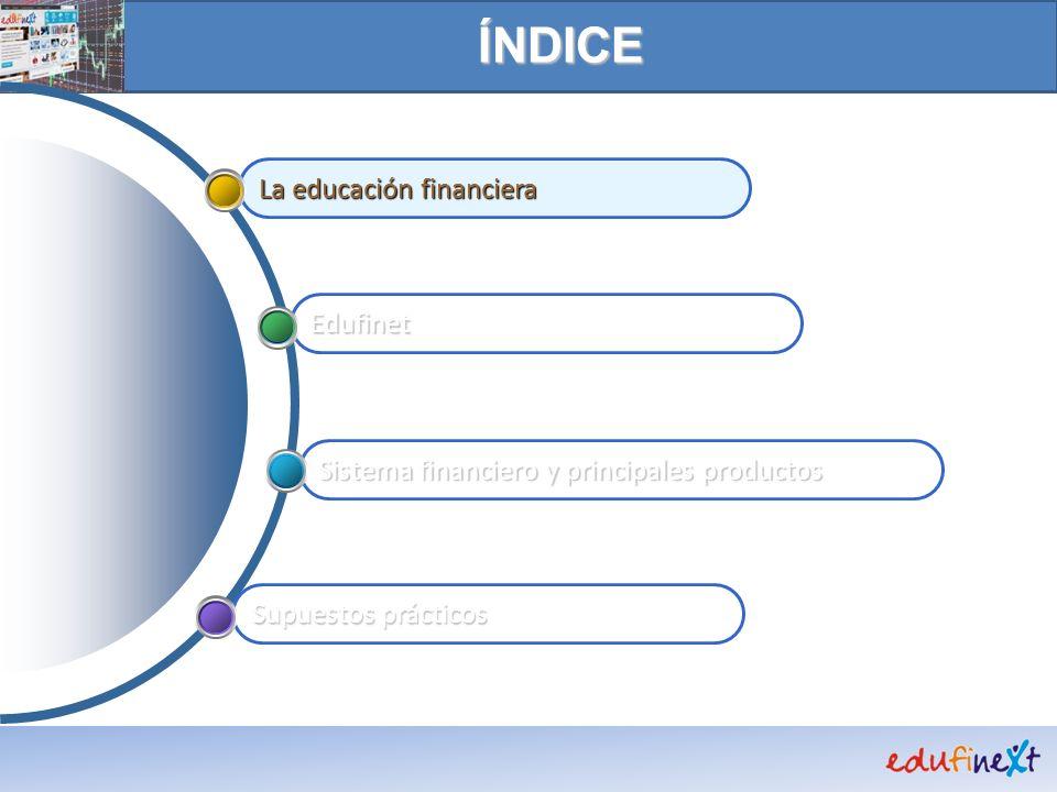 www.edufinet.com Banco de juegos CONTENIDOS EXPOSITIVOS Perfiles Edufinet en Facebook y Twitter Buscador Glosario Consultas Novedades Simuladores Adhesiones y contacto Colectivos