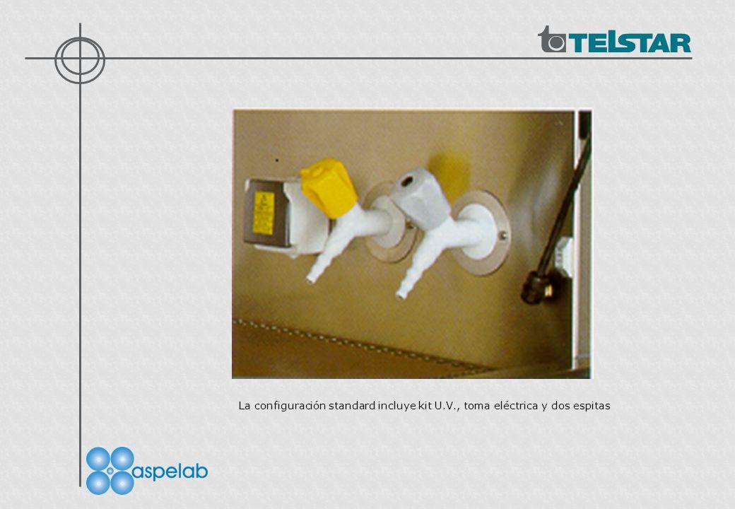 La configuración standard incluye kit U.V., toma eléctrica y dos espitas