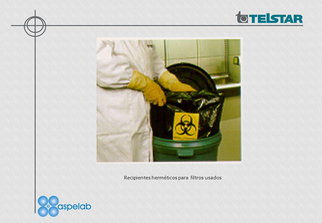 Recipientes herméticos para filtros usados