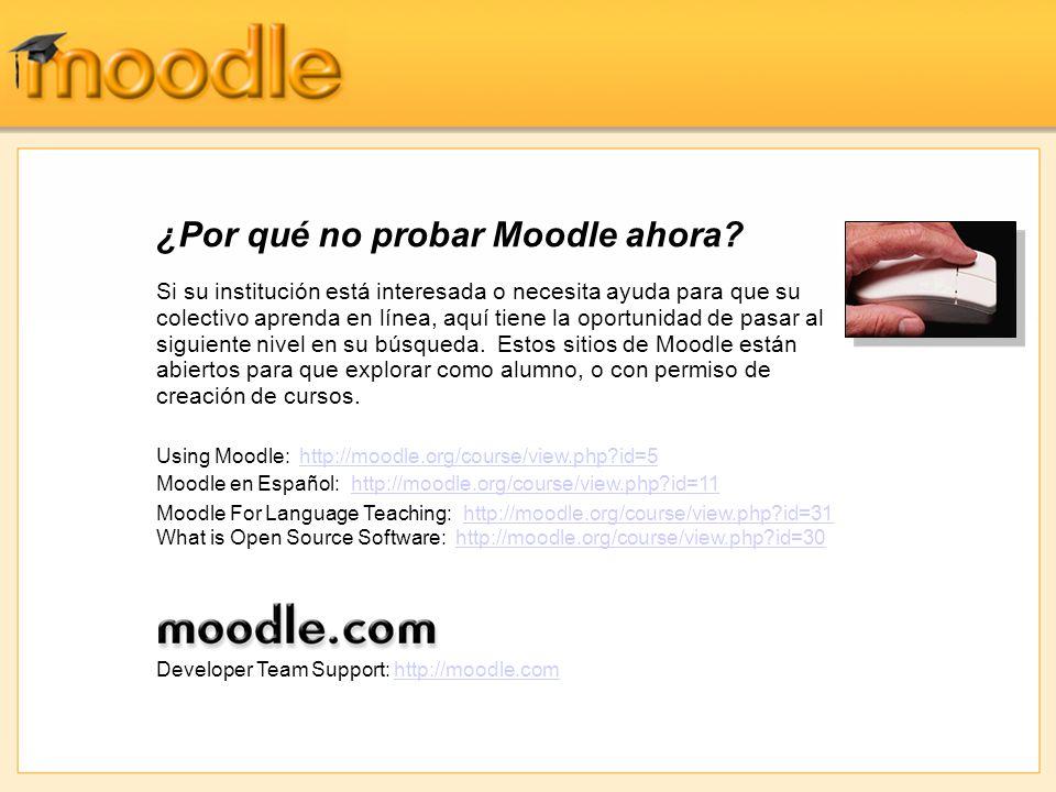 ¿Por qué no probar Moodle ahora.