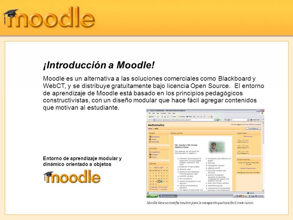 ¡Introducción a Moodle.