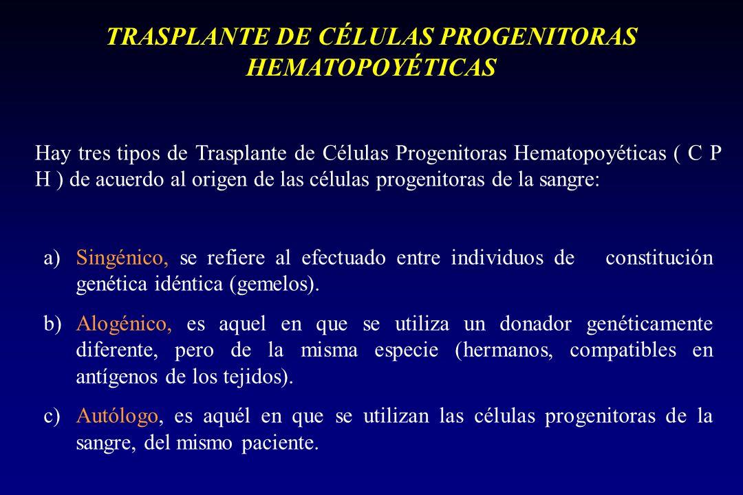 TIPOS DE TRASPLANTE ALOGÉNICO: Las células progenitoras proceden de un donante genética e inmulógicamente diferente al receptor, pero con compatibilidad del sistema HLA, el mayor o menor grado de compatibilidad entre donante y receptor es factor clave en el éxito del procedimiento.ALOGÉNICO: Las células progenitoras proceden de un donante genética e inmulógicamente diferente al receptor, pero con compatibilidad del sistema HLA, el mayor o menor grado de compatibilidad entre donante y receptor es factor clave en el éxito del procedimiento.