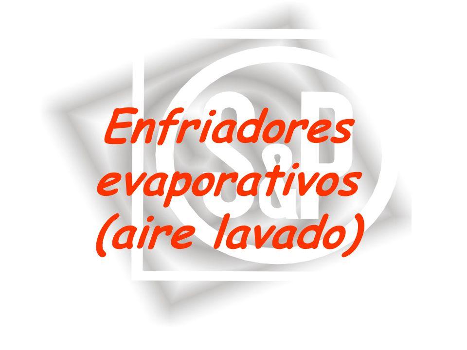 Enfriadores evaporativos (aire lavado)