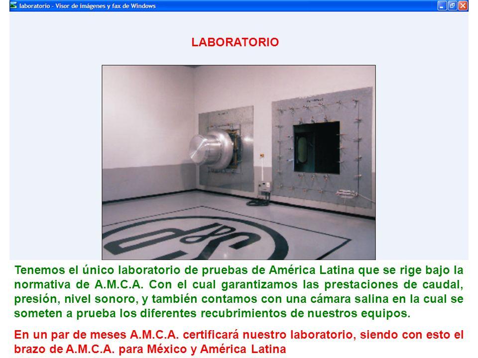 Tenemos el único laboratorio de pruebas de América Latina que se rige bajo la normativa de A.M.C.A. Con el cual garantizamos las prestaciones de cauda