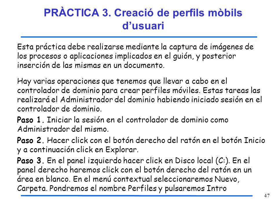 47 Esta práctica debe realizarse mediante la captura de imágenes de los procesos o aplicaciones implicados en el guión, y posterior inserción de las m