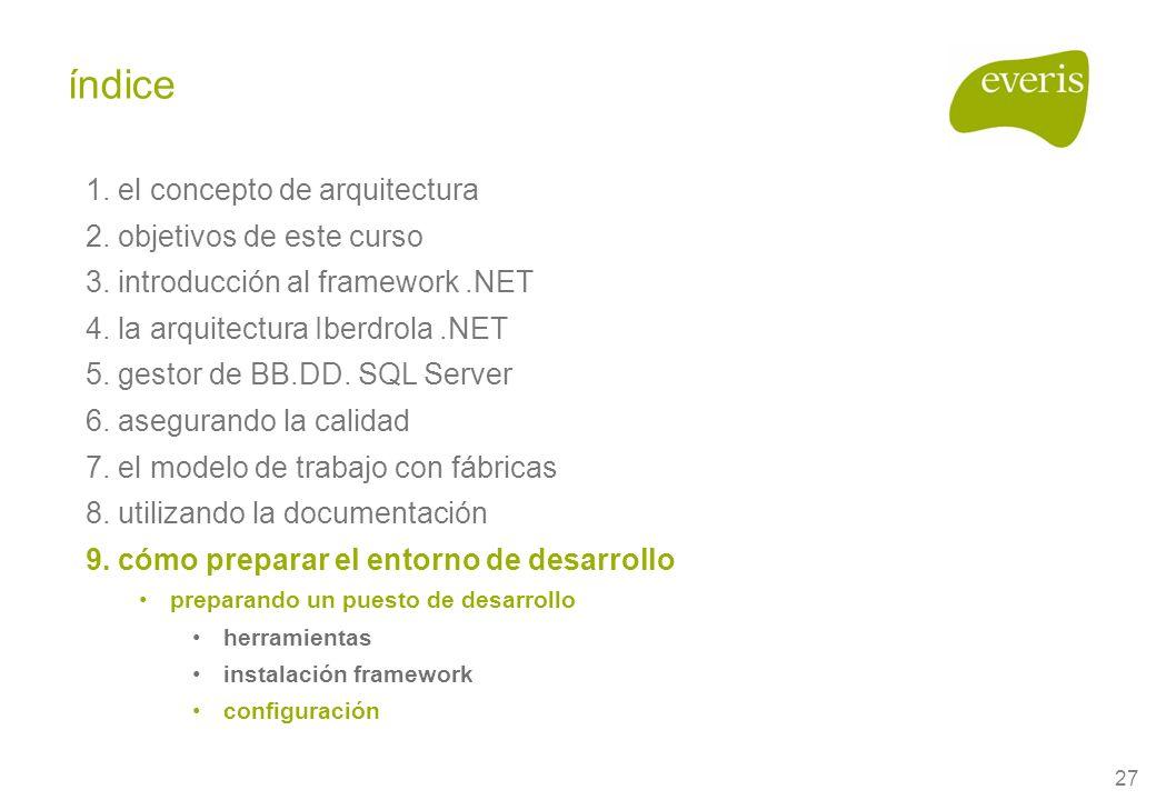 27 1. el concepto de arquitectura 2. objetivos de este curso 3.
