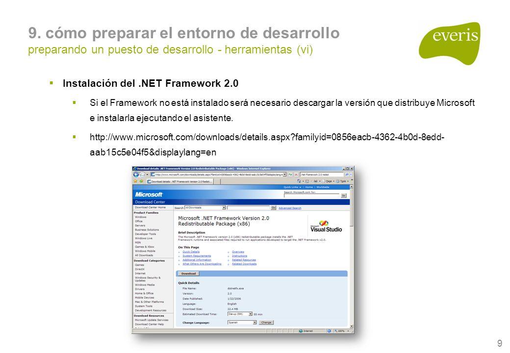 10 Visual Studio 2005 Inicio Programas Microsoft Visual Studio 2005 9.